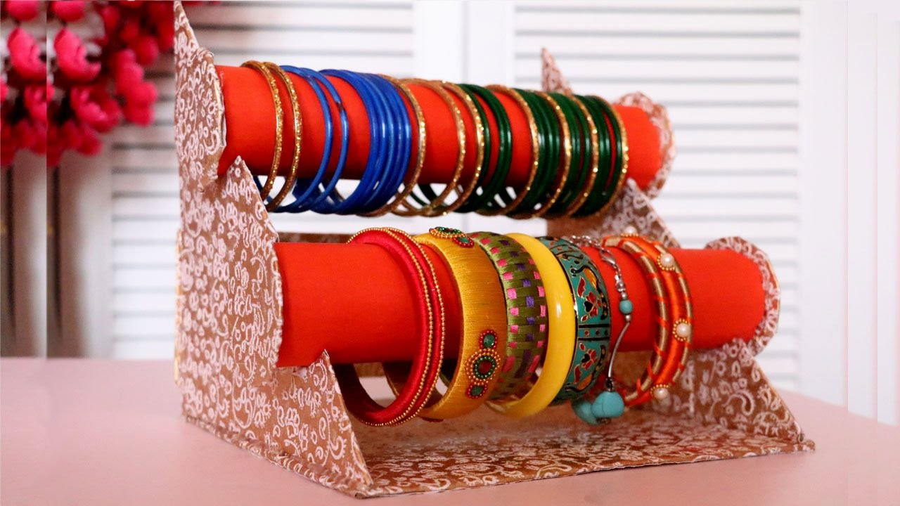 Cardboard Crafts DIY Bangle Stand Bracelet Holder Jewelry