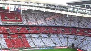 """God save the queen"" - National anthem of England in Wembley against Mexico"