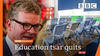 School catch-up tsar resigns over lack of funding @BBC News live 🔴 BBC