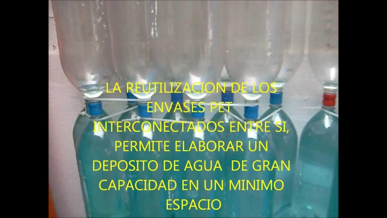 Recolecci n de aguas lluvias con envases pet reutilizados - Agua de lluvia ...