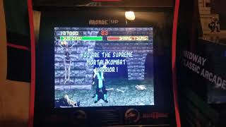 Just beat arcade Mortal Kombat for the first time!