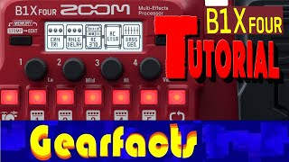 Zoom B1xFOUR Tutorial and Software link up