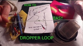 FISHING KNOT - How to Tie a Dropper Loop - EASY TEASER RIG - Surgeons / Overhand LOOP KNOTS