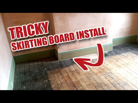 Tricky Tall Skirting Board / Baseboard Job in Victorian House [44]
