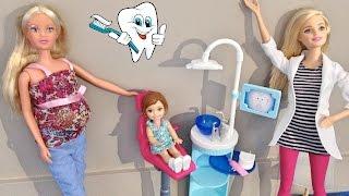 Primeira Visita ao Dentista - Aninha vai no consultório da Dra. Barbie - Julia Silva