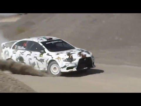 Mansour Bin Jabr  Dubai International Rally 2015 Mitsubishi Lancer Evo 10   day 1