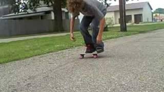540 flip on a mini skateboard