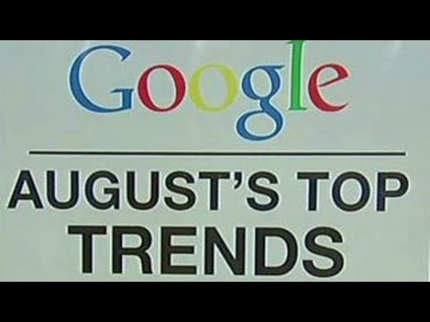 Top Google search trends in August