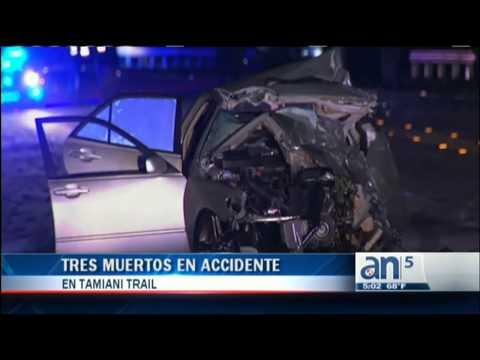 Tres muertos en accidente en Tamiami Trail  - América TeVé