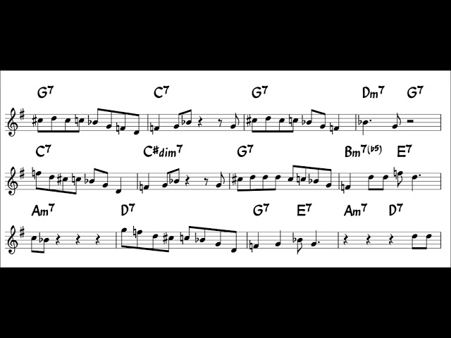 Now's the Time - Easy Solo Sample for Tenor Sax -  1