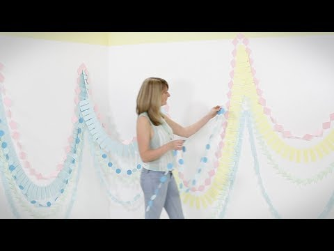 Craft corner: How to make a paper garland