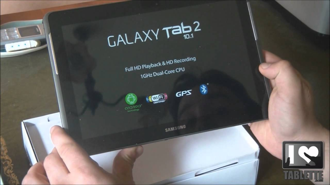 test tablette samsung galaxy tab 2 10 1 pouces d ballage youtube. Black Bedroom Furniture Sets. Home Design Ideas