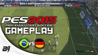 Новый геймплей PES 2015 матч сборных Бразилии и Германии