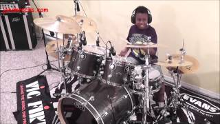 Metallica - Enter Sandman, 9 Year Old Drummer, Jonah Rocks.
