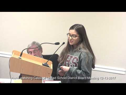 Calexico Unified School DIstrict Meeting 12 14 2017