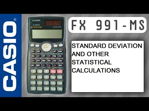 CASIO Fx-991ms, STANDARD DEVIATION AND OTHER STATISTICAL CALCULATION