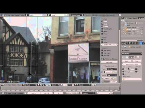 Modeling a building in Blender