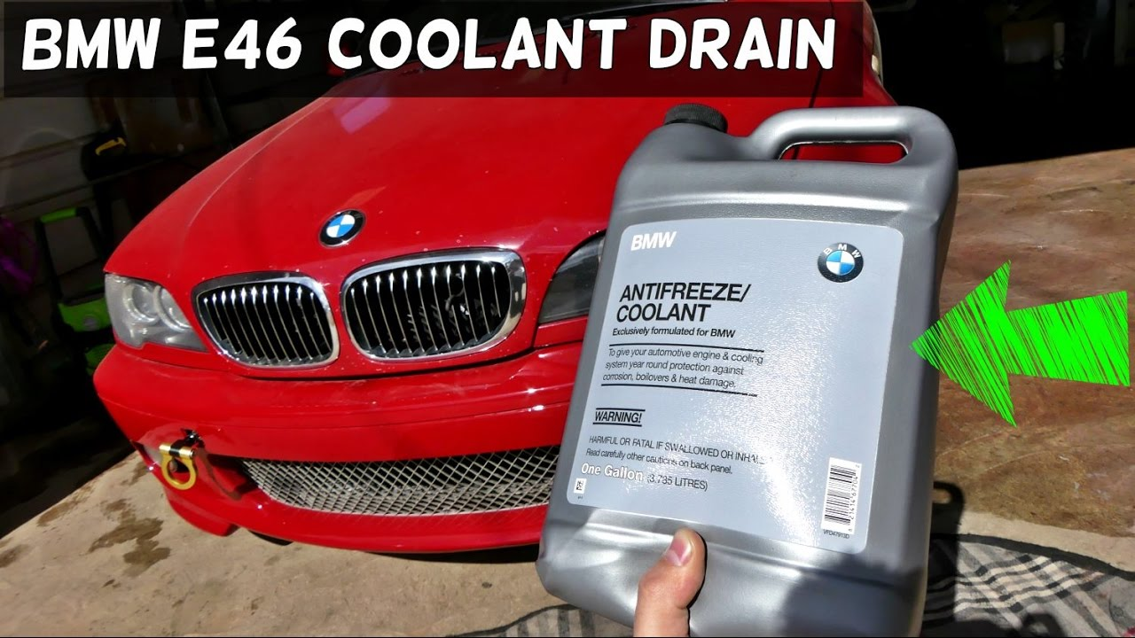 how to change coolant bmw e46