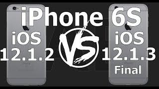 iPhone 6S : iOS 12.1.3 Final vs iOS 12.1.2 Speed Test (Build 16D39)