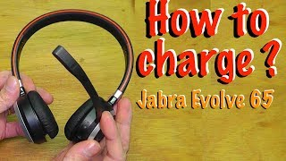 How to charge Jabra Evolve 65 battery