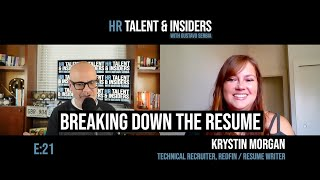 E:21 - HR Talent & Insiders: Krystin Morgan & Breaking Down the Resume