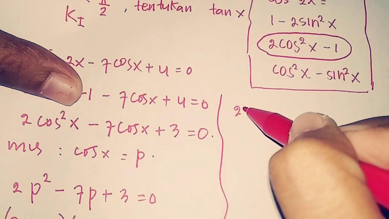 Cara Mudah Menyelesaikan Identitas Trigonometri Part 2 Youtube