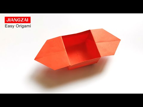 How to Make a Paper Box With Ears-Easy Paper Origami Tutorial-origami easy but cool for beginners