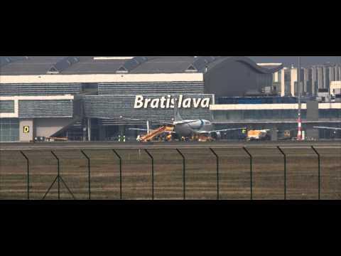 Bratislava Airport - landings & takeoffs #6 (HD)