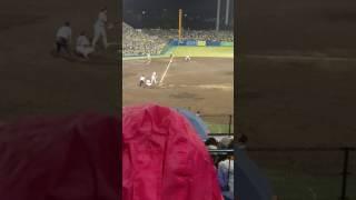 一塁ベンチ上からの動画です.
