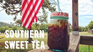 How To Make The Best Southern Sweet Iced Tea | A Taste Of The South