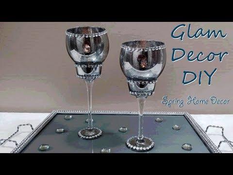 Dollar Tree DIY Glam Bling Mercury Glass Tealight Holders