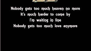 The Lyrics Of The Bee Gees- Too Much Heaven