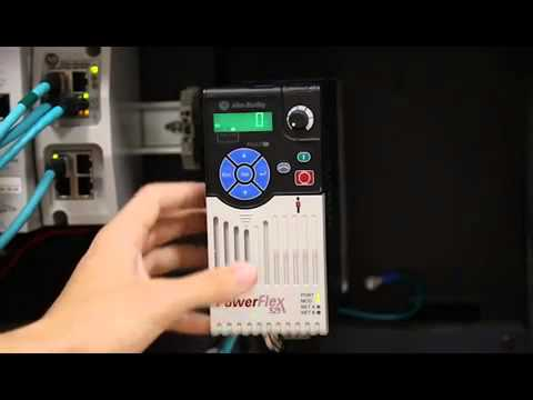 how to setup a standalone powerflex 523 drive youtube