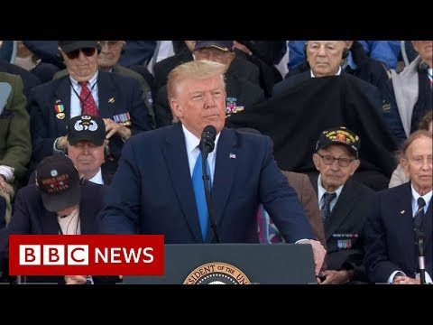 D-Day: Trump praises Allied forces in speech on 75th anniversary - BBC News