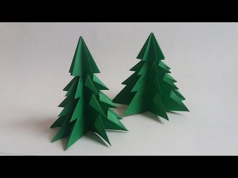 Como hacer un arbol de navidad de papel christmas tree - Arbol de navidad de origami ...