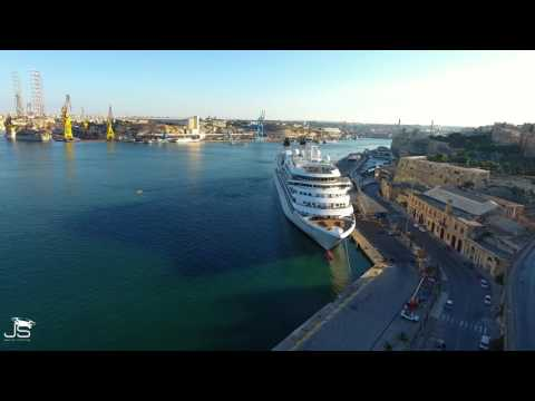 Valletta waterfront Malta in 4k