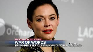 Meryl Streep responds to Rose McGowan's criticism
