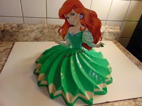Gelatina de princesa ariel youtube - Moldes para gelatina ...