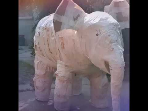 Paper mache Elephant-How to make