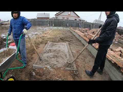 Строительство дома. Кирпичная кладка.ч2.Выкладываем цоколь.
