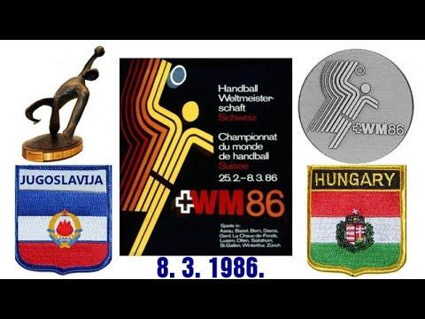 Handball гандбол 1986 JUGOSLAVIJA HUNGARY WORLD CHAMPIONSHIP KÉZILABDA
