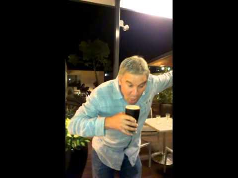 dad drunk, hes true blue