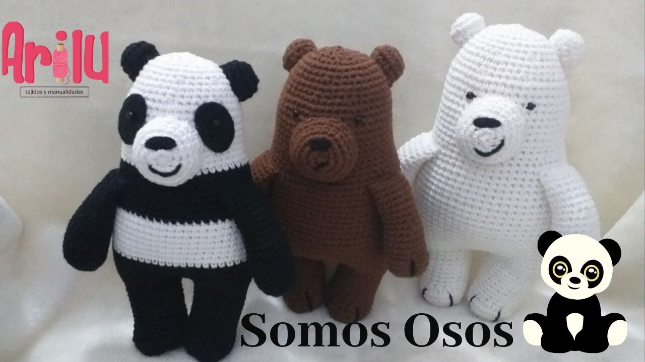 CROCHET PATTERN: We Bare Bears Inspired Bear Stack (small ... | 720x1280