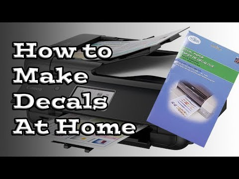 How to Make Decals for Miniatures  Models - YouTube