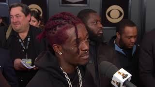Lil Uzi Vert Reacts to Best New Artist Nom | Red Carpet | 60th GRAMMYs