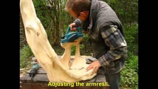Thuja Stump Chair Carving