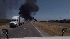 """""""ROAD RAGE"""" I 35 n Laredo TX fiery life ending commercial vehicle accident!!!"""
