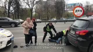 Дорожные войны: полиция vs народ: в Киеве на проспекте победы 121 водитель автомобиля мицубиши припа