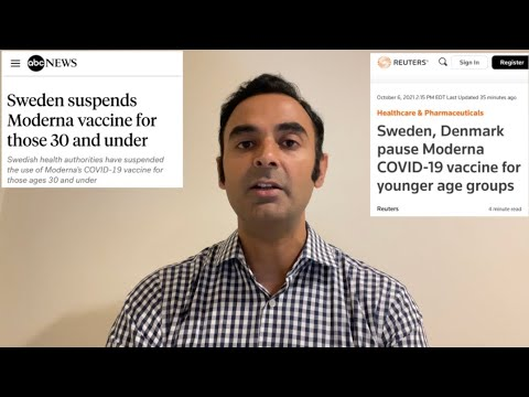 NEWS: SWEDEN, DENMARK suspend Moderna vaccine in YOUNGER AGE groups. What happened?