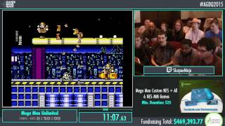 Awesome Games Done Quick 2015 - Part 101 - Mega Man Unlimited by Slurpeeninja